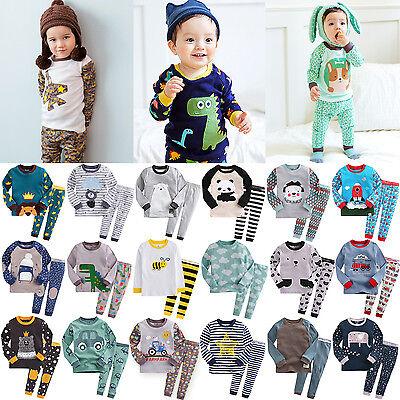 """B25Styles"" Vaenait Baby Kids Toddler Boys Clothes Top+Pants Pajama Set 12M-7T"