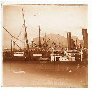 Italia Palermo Placca Da Lente Stereo Positivo Vintage 1908
