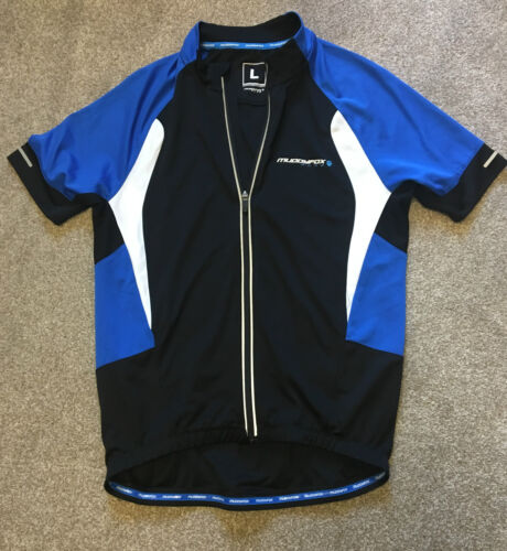WORN ONCE MUDDY FOX PURE FULL ZIP CYCLING JERSEY SHIRT L LARGE COST 65