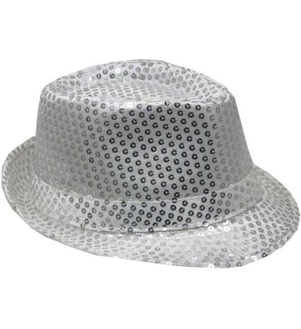 Mozlly Mozlly Glamorous Sequin Fedora Hat Flashing Disco Retro Funky  Glitter Spa c0d86930a9c6