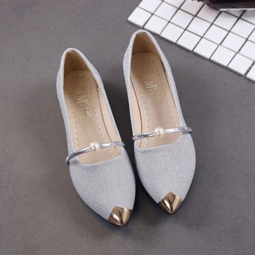 Women Flat Heel Casual Pointed Toe Shoes Slip On  Low Heel Loafers Ballet Pumps