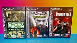 Tom-Clancy-039-s-3-Game-Lot-Playstation-2-PS2-Ghost-Recon-Splinter-Cell-Rainbow