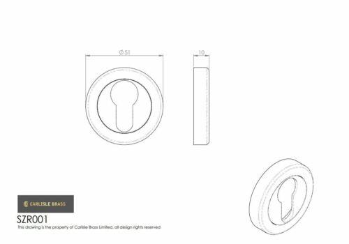 Carlisle Brass Serozzetta Euro Profile Escutcheon SZR001