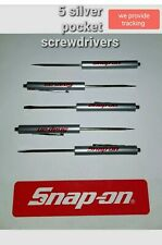 silver screwdriver magnet end bottle opener keychain ! Snap on tools 2 pieces
