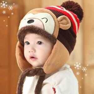 67f7c50da26 Toddler Kid Girl Boy Baby Infant Winter Warm Crochet Knit Earflap ...