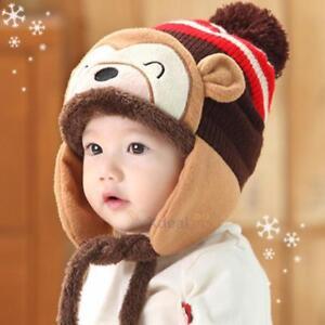 8f54b65ef46 Toddler Kid Girl Boy Baby Infant Winter Warm Crochet Knit Earflap ...