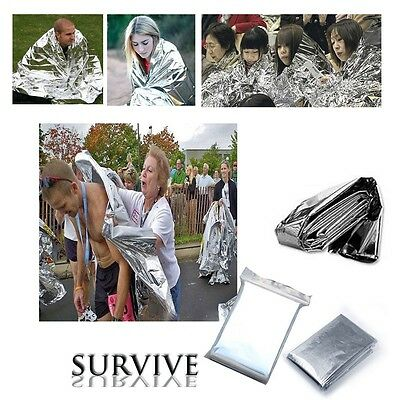 Outdoor Emergency Sleeping Blanket Survival Camping Rescue Hiking Sliver
