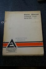 Allis-Chalmers Lift Truck Forklift Parts Manual