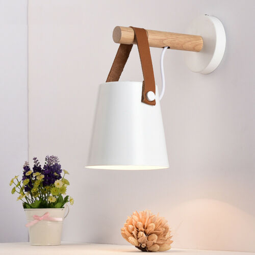 Modern Lampshade Home Decor LED Wood Wall Lamp For Living Room Bedrooms gift