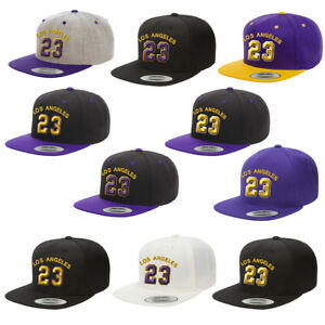 a9a38e3098e7ea Los Angeles Player #23 x Lakers Color x LeBron Snapback Baseball Hat ...