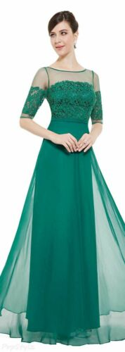 Ever pretty Chiffon Long prom dress Bridesmaid Dresses  Gown Evening Party UK