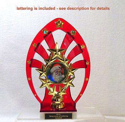 CHRISTMAS TROPHY SANTA TROPHY RED  #4 SANTA CLAUSE