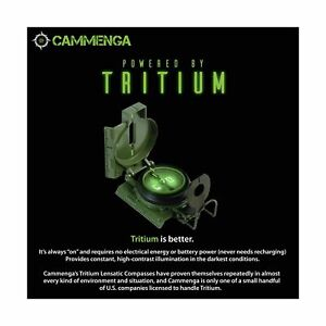 Cammenga 3H Tritium Lensatic Compass Official US Military, Accurate Waterproof