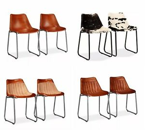 Image Is Loading Leather Chairs Vintage Retro Furniture Metal Dining