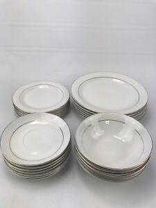 Dinnerware Set 24 Piece Plates Dishes