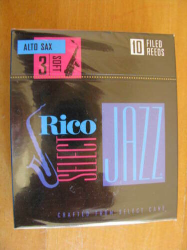 Stärke 3 Soft HOT DEAL Filed Reeds Rico Select Jazz Altsaxophonblätter