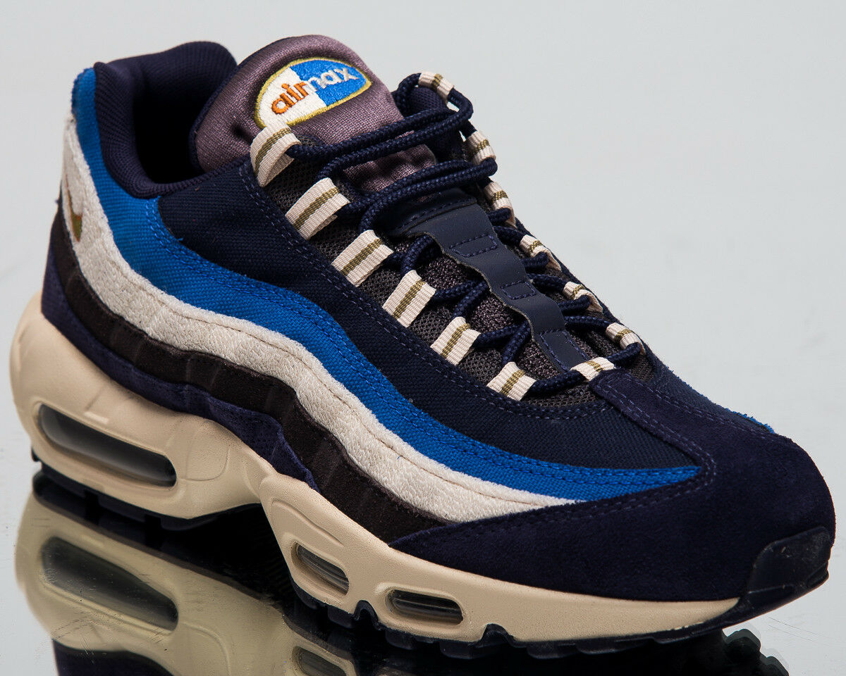 Nike Air Max 95 Premium Lifestyle shoes Blackened bluee 2018 Sneakers 538416-404