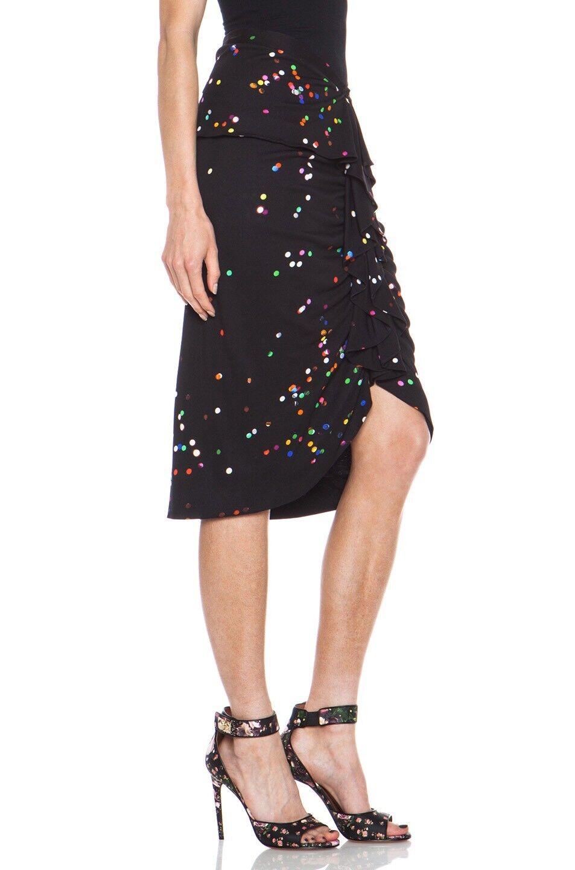 Nuevo Con Etiquetas   1,990 Givenchy Seda Jersey Confeti Lunares Volantes Falda de tamaño mediano  Disfruta de un 50% de descuento.