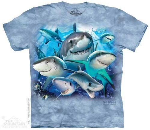Sea Fish Sizes S-XL Youth NEW Sharks Selfie Kids T-Shirt by The Mountain