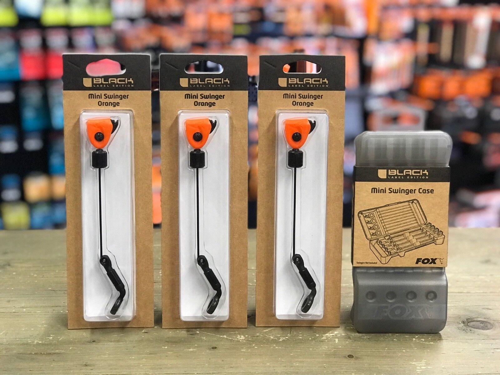 FOX nero Label mini Swinger 3 Rod Set in Arancione Con Custodia-CSI069 CSI075.