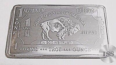 Collectable Fractional Bullion Pure Buffalo Bar Fine .999 Zinc Ingot Troy Oz