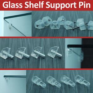 12 Glass Shelf Support Pegs Pin Support Brackets Kitchen Unit Cabinet Ikea Diy Ebay
