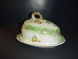 Antique English Ironstone Cheese Keeper