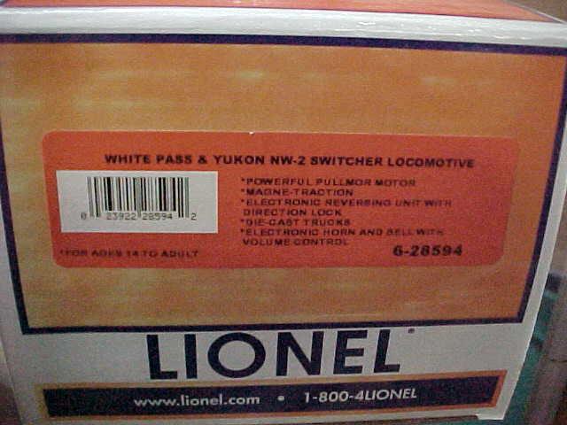 LIONEL---WHITE PASS & YUKON NW-2