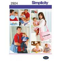 SIMPLICITY SEWING PATTERN HIS & HERS NAPPY BAG & ACCESSORIES   2924