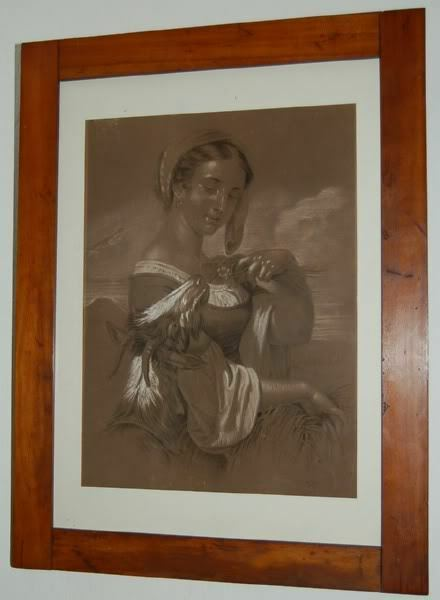 Juliane Edle von Burger (1835-1915 GRAZ) MÄDCHEN MIT ZIEGE UM 1854