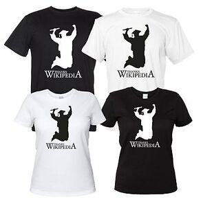 Thanks-Wikipedia-Maglietta-Divertente-Neolaureato-T-Shirt-Laurea-Donna-Uomo