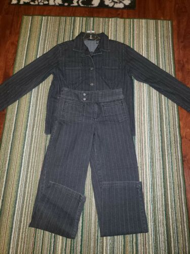 Set Vintage Chico Jacket Pinstripe Jean And w4RBq0