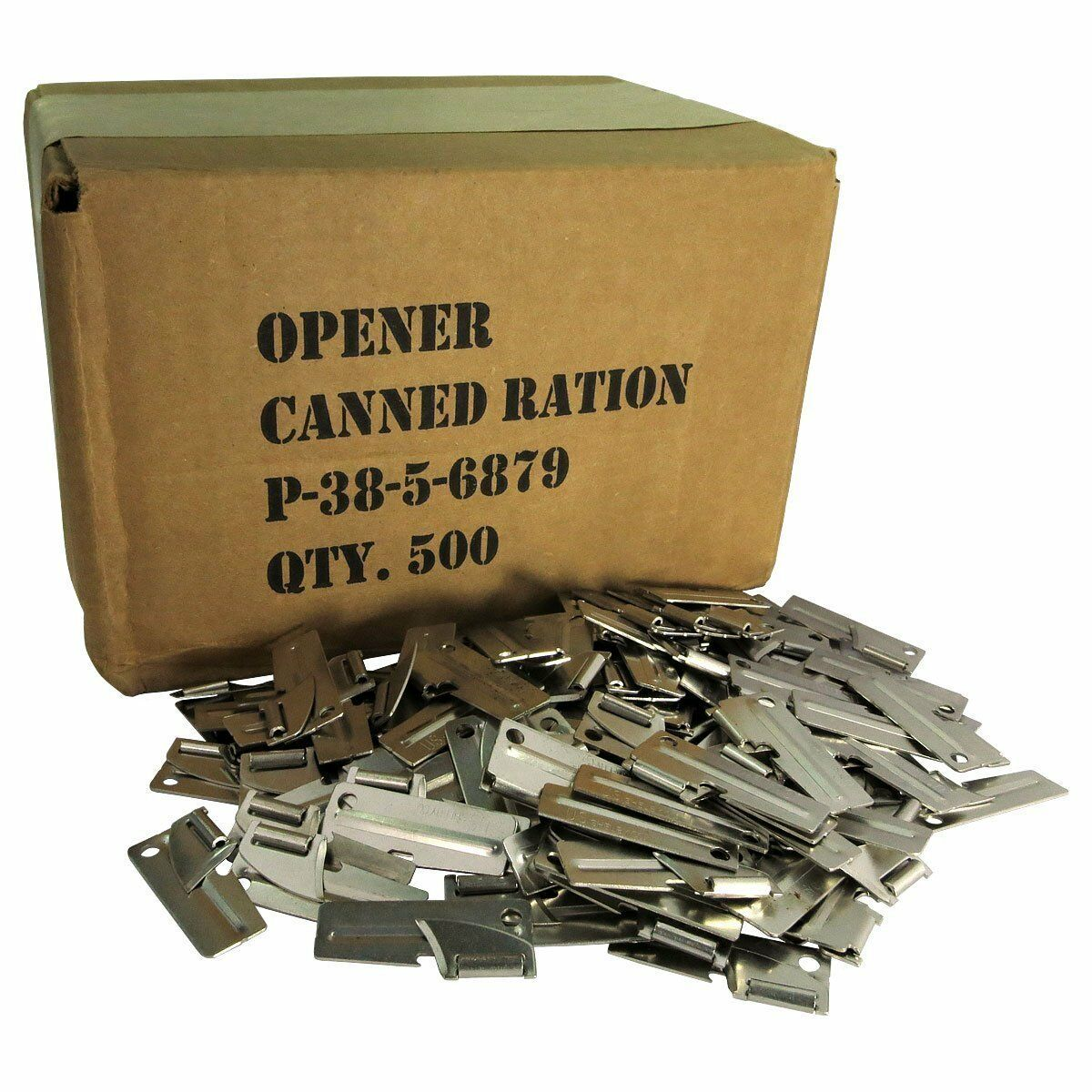 500pk Original Military Issue G.I. P38 P-38 Can Opener US Shelby Co Made Camping