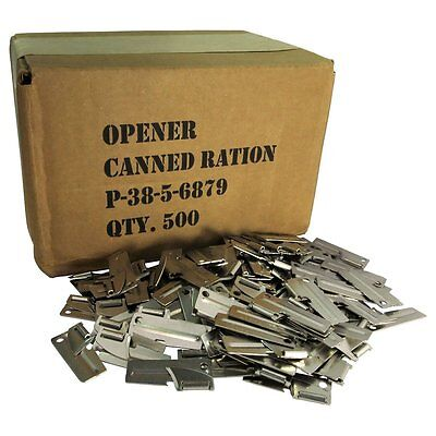 500pk Original Military Issue G.I P38 P-38 Can Opener US Shelby Co Made Camping