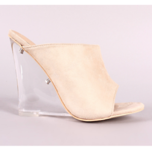 Cape-Robbin-COTTON-CANDY-Nude-Faux-Suede-Open-Toe-Clear-Lucite-Wedge-Heel-Mule