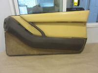 Ferrari Testarossa. RH Interior Door Panel. Beige & Brown  Part# 61502000