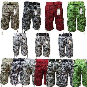 Men's Focus Money Style Cargo Shorts 7 Colors Sizes 30,32,34,36,38<wbr/>,40,42,44