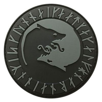 """YEN1 Viking Odin /""""Úlfhédnar No Mercy Only Violence Wolf odin IRON ON Patch"""