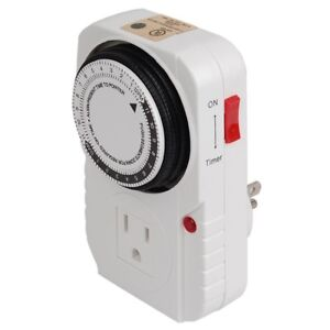 24-hour-Grounded-Timer-1875W-15A-For-Home-Grow-Tent-Fan-Blower-Aquarium-Light-US