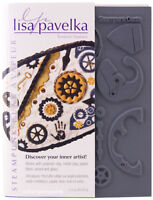 Lisa Pavelka Texture Stamps Steampunk Set Includes Innie & Outtie Sheets 27252