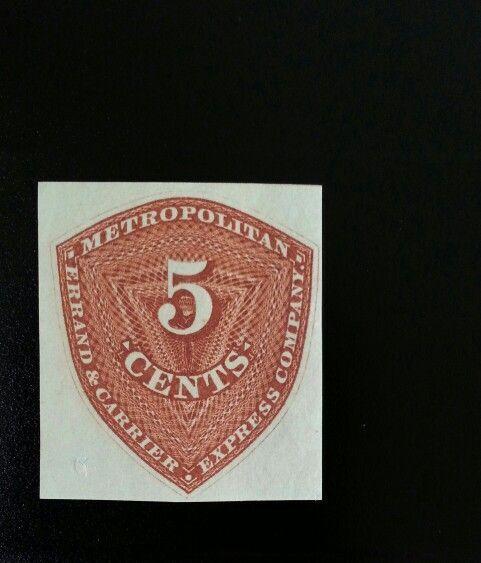 1855 5c Metropolitan Errand & Carrier Express Co., New