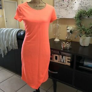 Women-s-Neon-Orange-Dress-Bright-Orange-Size-M-BOBBIE-BROOKS