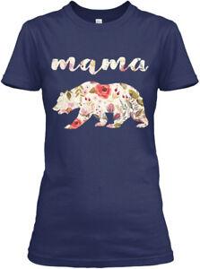 Custom-Mama-Bear-Floral-Gildan-Women-039-s-Tee-T-Shirt-Gildan-Women-039-s-Tee-T-Shirt