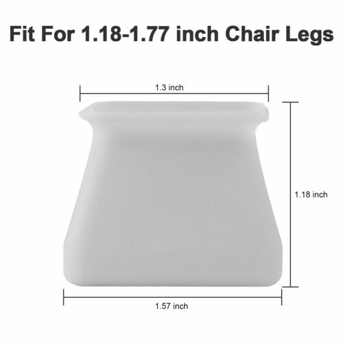 4//8//12 Pcs Furniture Table Chair Leg Tip Silicone Cover Feet Pad Floor Protector