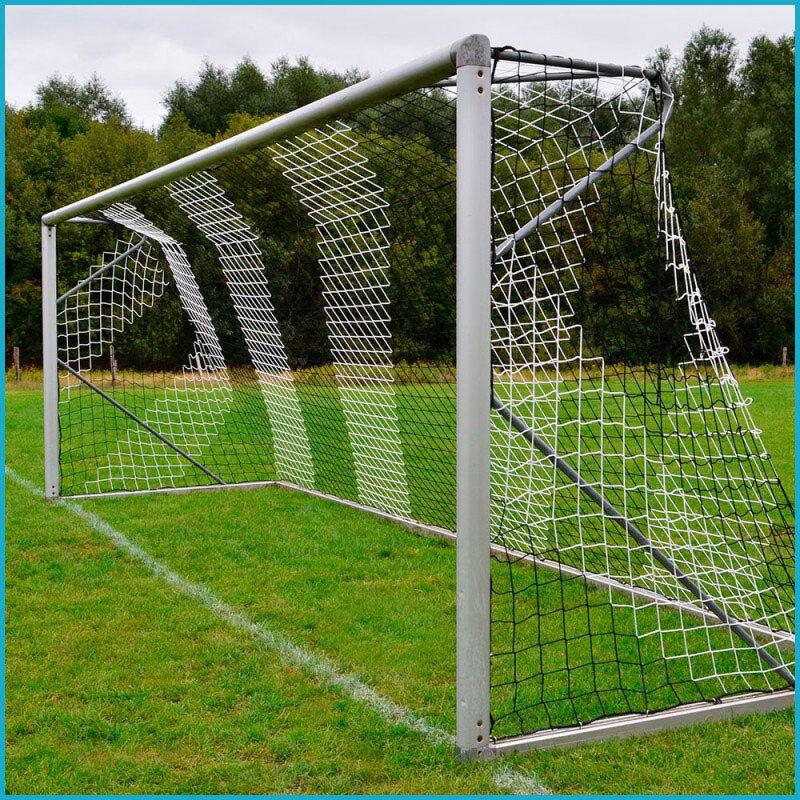 Jugend Fußballtornetz Tornetz Tornetz Tornetz 5 x 2 m 0 80   1 50 m 4 mm Schwarz Weiß a30195