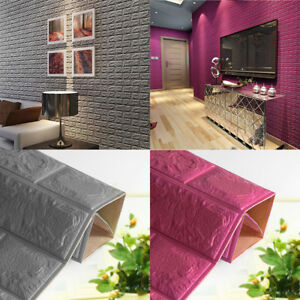 3D-Tile-Brick-Wall-Sticker-Self-adhesive-Waterproof-Foam-Panel-Decor-60-60cm-NHD