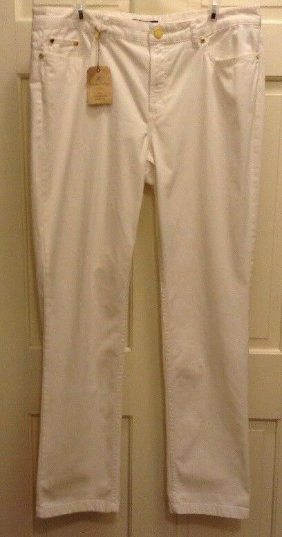 Brooks Bredhers Women's Natalie Fit Ivory Pants Size 4 Garment Dyed Collection