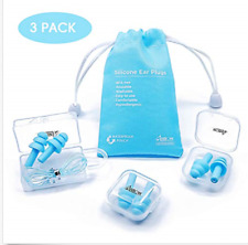 Anbow Waterproof Noise Reduction Earplugs Reusable Silicone Ear Plugs