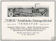 Turul Schuhe Temesvár Reklame von 1917 Timisoara Temeschburg Schuhfabrik Banat