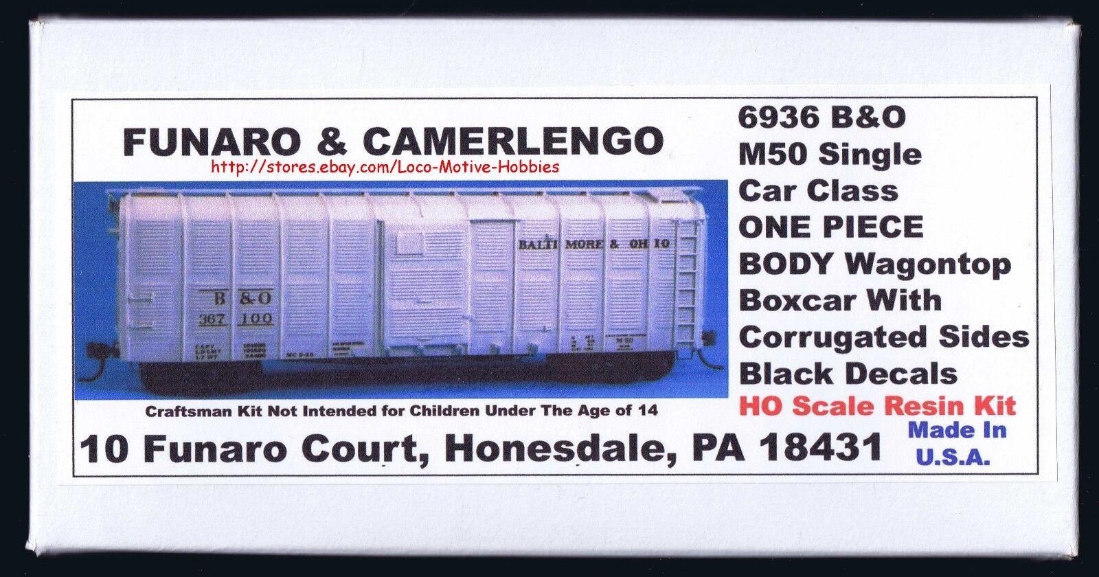 Funaro F&C 6936 BALTIMORE OHIO  WagonTop B&O Corrugated Sheathing Boxcar 1-PIECE